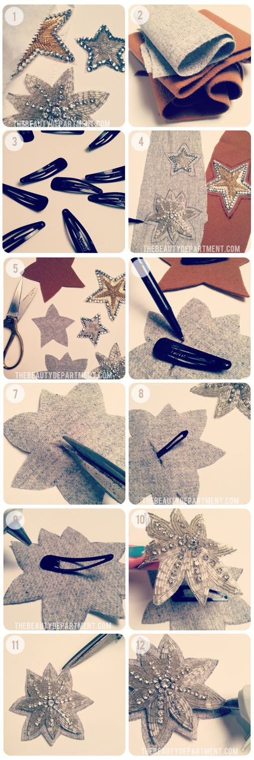 DIY Sparkly Hair Clips — a great idea for a gift you can make.