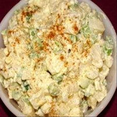 Mom s Potato Salad  (I don't add the celery. Family doesn't like it. I add some celery salt instead.  This one does not taste to sweet like some.