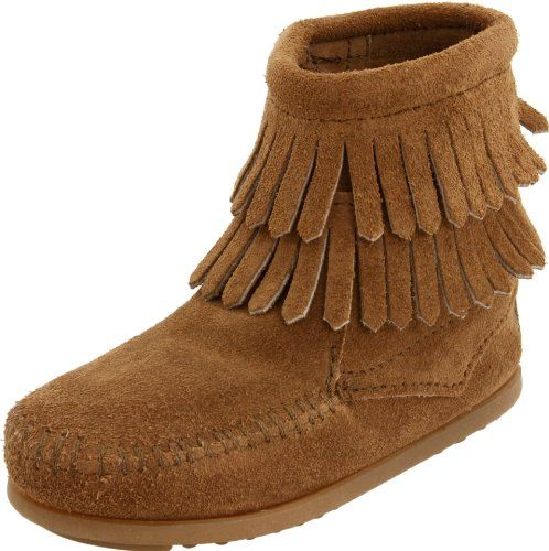 Brown or Pink! Amazon.com: Minnetonka Double Fringe Moccasin Boot (Toddler/Little Kid/Big Kid): Shoes