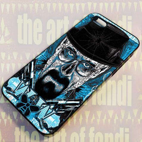 Breaking Bad Heisenberg For iPhone 5 Black Rubber Case