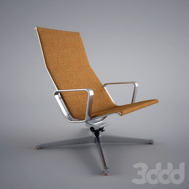 3d модели: Кресла - charles and ray eames-Reclining Armchair