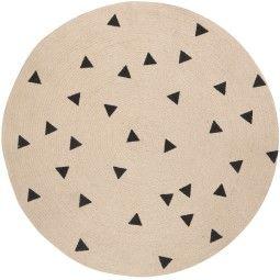 Ferm Living Black Triangles vloerkleed 100