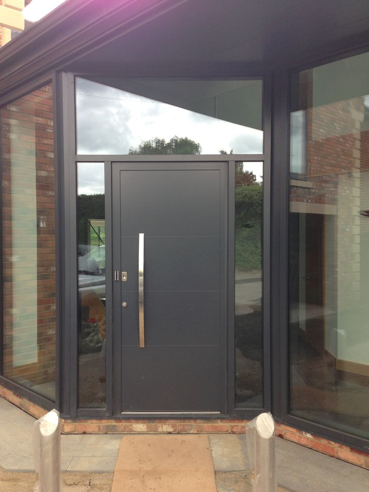 #Hormann #Front #Entrance #Door TopPrestige Plus Style 693 in RAL 7016 Anthracite Grey.