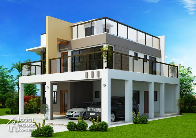 Modern House Plans 13x14m And 19x14m House Plan Map Modern House Plans Luxury House Plans Two Story House Design