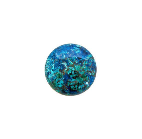 Chrysocolla round cabochon 35.20 carat by SARAHHUGHESfinegems