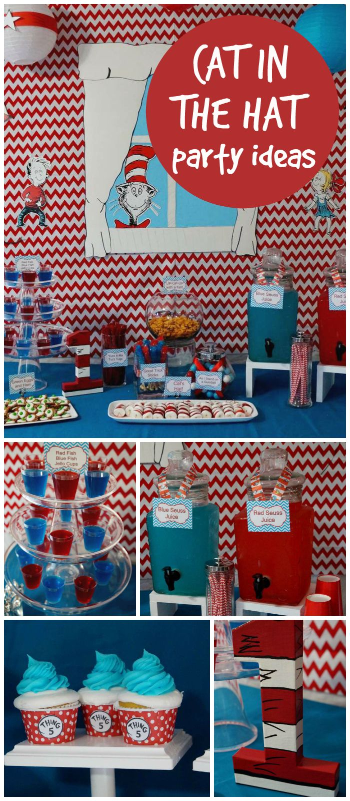 Lots of fantastic Dr. Seuss ideas at this party! See more party ideas at CatchMyParty.com!