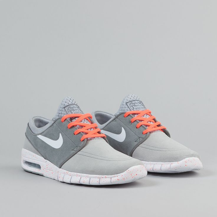 Nike SB Stefan Janoski Max Suede Shoes - Wolf Grey / White / Cool Grey /