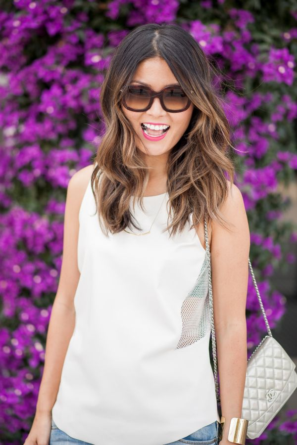 Midi hair cut with ombre: