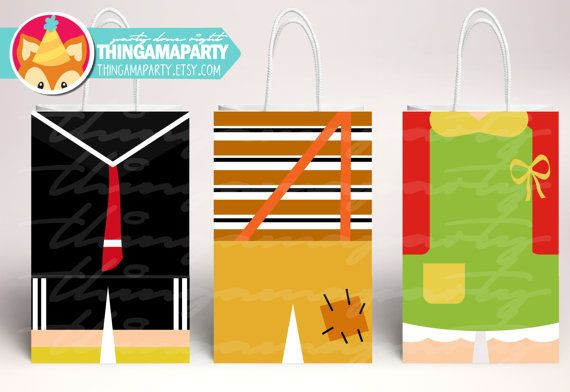 PRINT&CUT El Chavo Del Ocho Goodie bags bolsitas por Thingamaparty