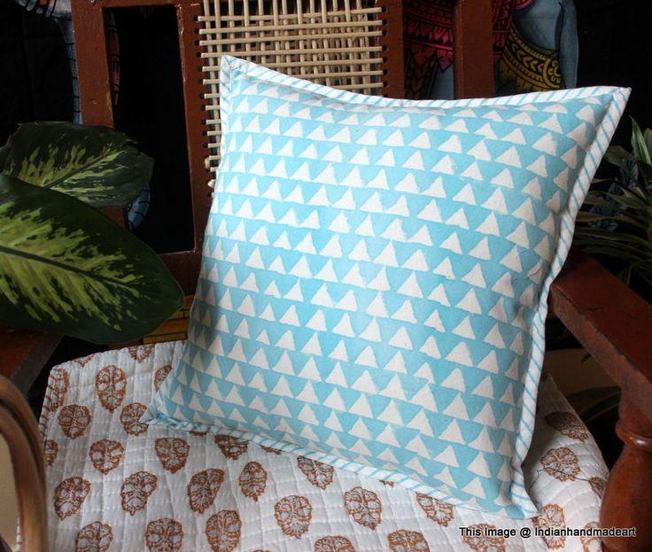 Indigo Blue Cushion Covers Fair Trade Handmade Indian Heavy Weight 100% Cotton11 #Handmade #Traditional #PillowCoverPillowShamCushionCover