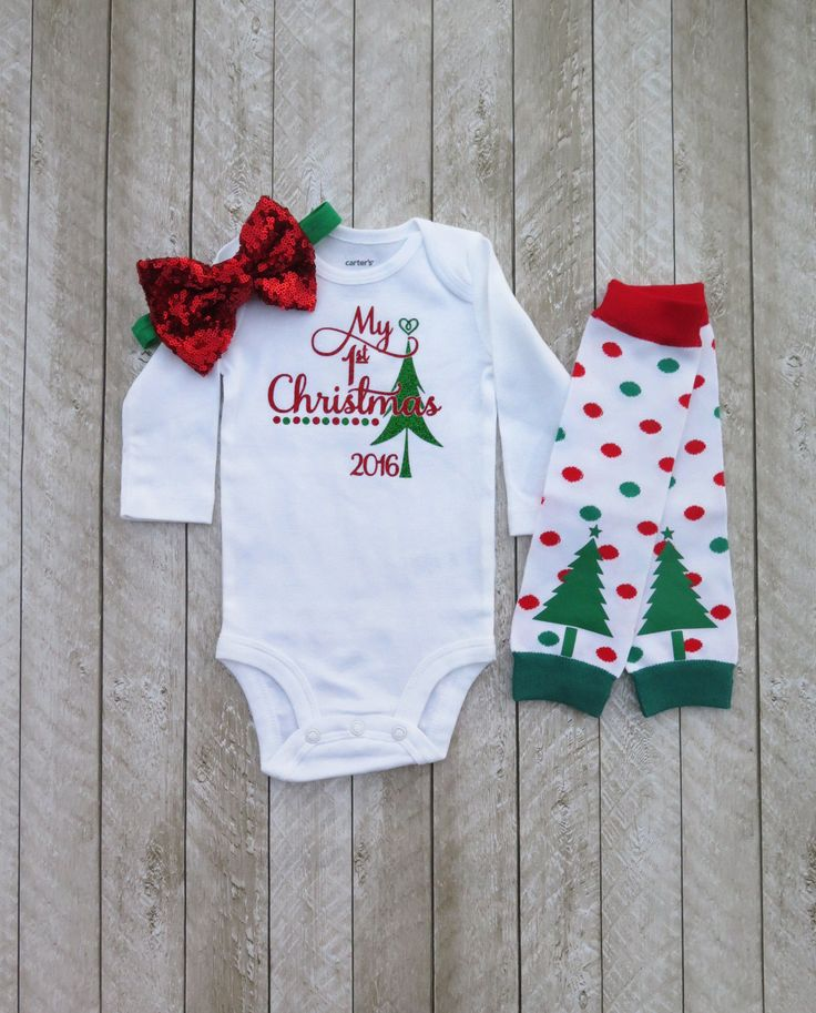 Baby girl first Christmas outfit - My first Christmas outfit - My first Christmas girl - Newborn Christmas outfit - Christmas newborn outfit by SweetPeaCharlies on Etsy