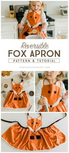 Tablier renard /! pattern pour enfants, à adapter pour adulte