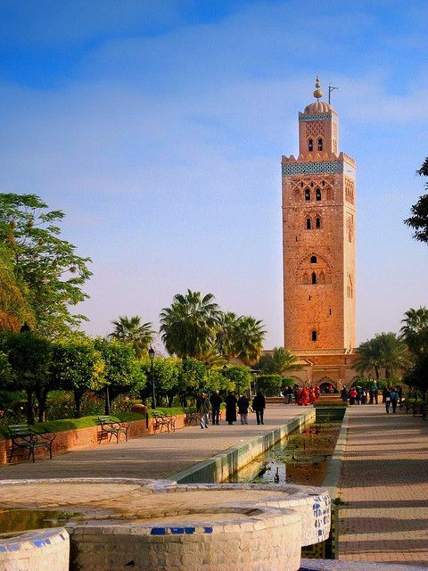 Koutoubia Mosque in Marrakech, Morocco (by Pilar Azaña).