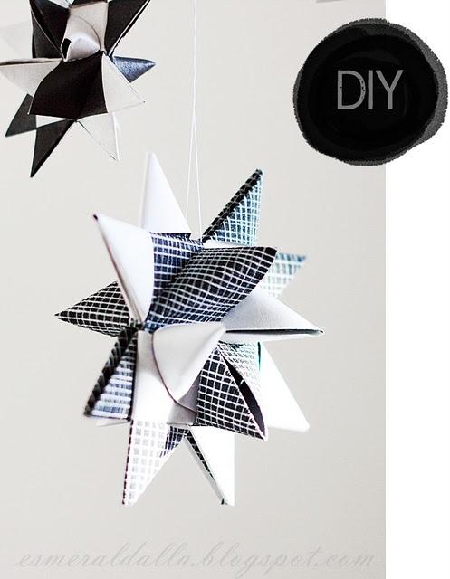 from Esmeralda's blog: Holiday, Christmas Diy, Paper Stars, Papercraft, Xmas, Paper Crafts, Diy Paper