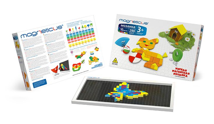 Soft Magnetic Mosaic (174 elements) 3+ Your child can reproduce the beauty of the world  with his own hands!