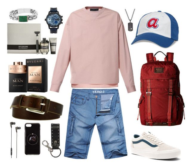 """Male #20"" by strawberryandice on Polyvore featuring Diesel, Vans, Burton, American Needle, Remo Tulliani, Valentino, Givenchy, B&O Play, Bulgari und Viktor & Rolf"