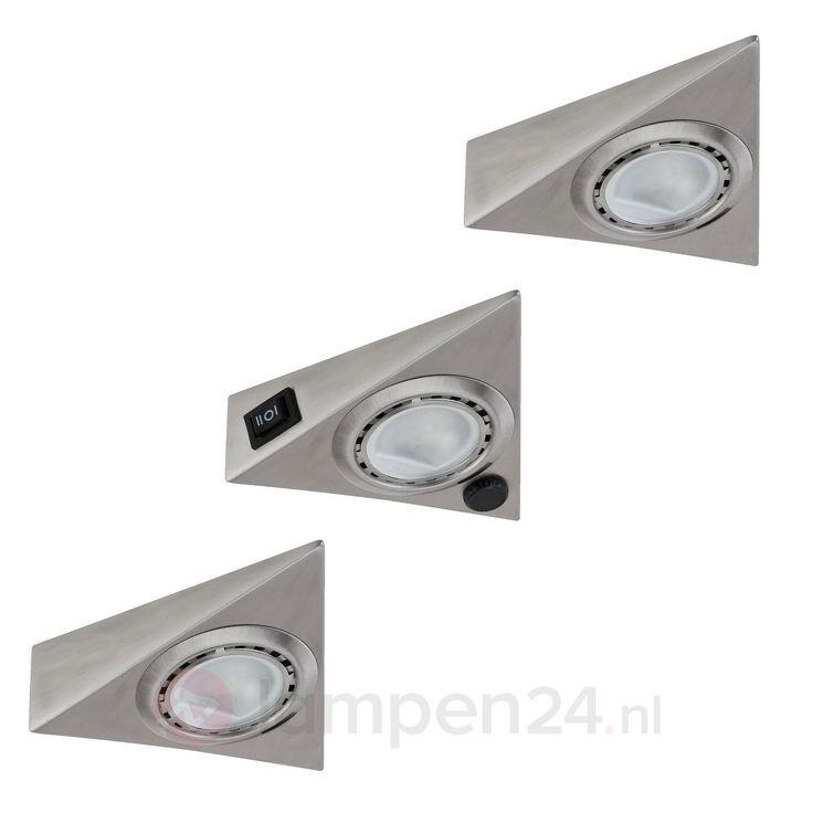 Onderbouwlamp TRIANGLE met sensor in set van 3 veilig & makkelijk online bestellen op lampen24.nl