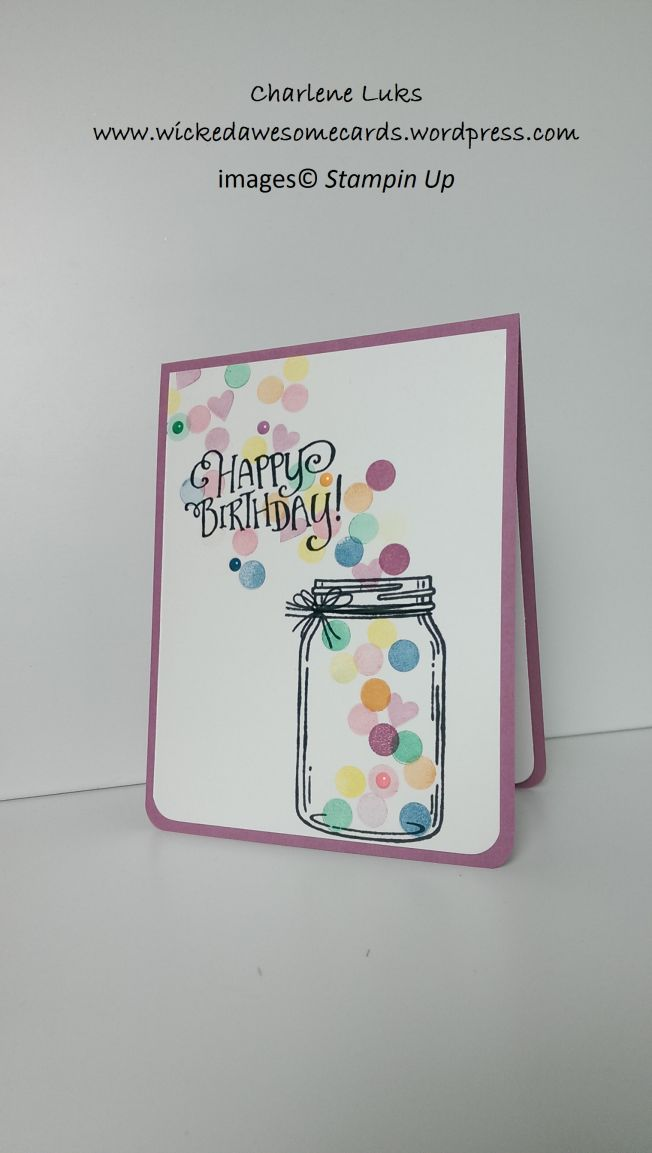 WickedAwesomeCards.wordpress.com Stampin Up; Jars of Love stamp set; Better Together stamp set