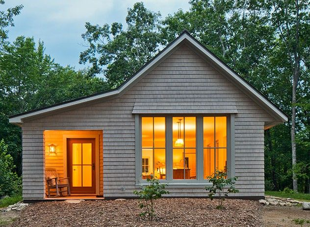 """House on a Knoll"" prefabricated passive solar house by Go Logic www.gologic.us"