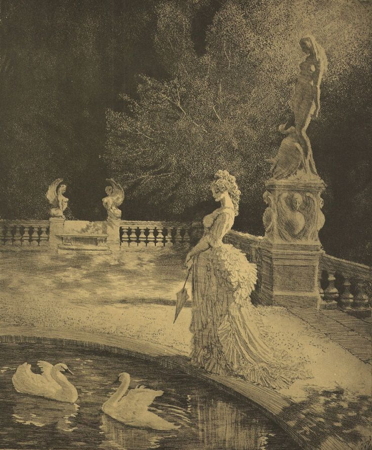 darebinroad:'Leda' by Norman Lindsay. Norman Lindsay Etchings,  ISBN 0 207 14716 7