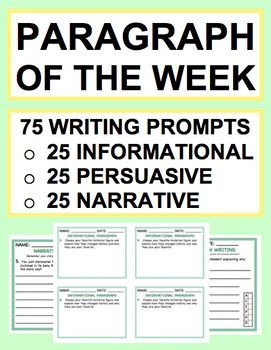daily writing prompts for middle school Journal writing prompts: these high-interest prompts will encourage kids to describe, explain, persuade, and narrate every day of the school year.