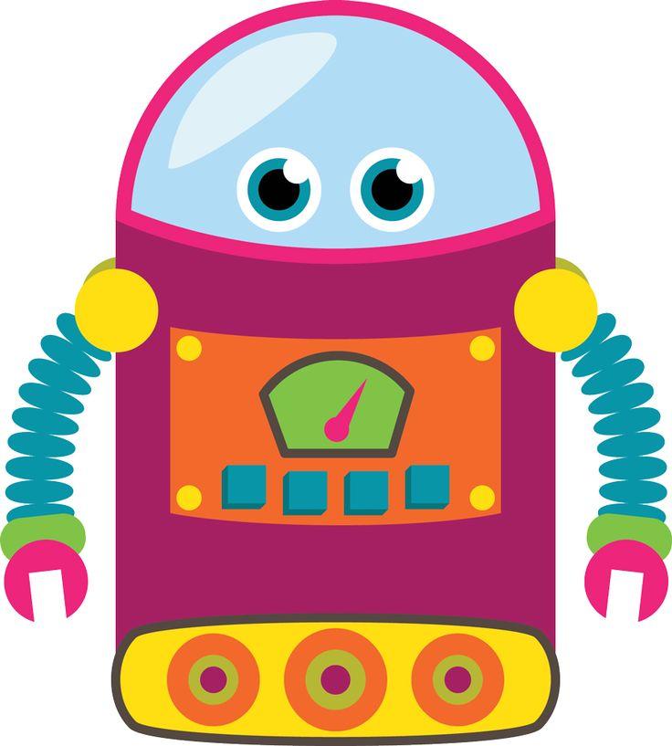 Een fullcolour muursticker van een kleurige robot. Combineer met de andere robots en maak zo de kinderkamer compleet.