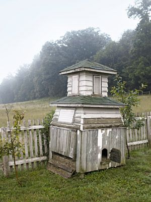 An old cupola finds new life as a chicken coop.