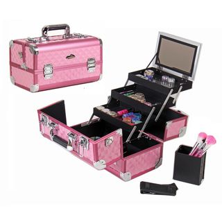 Shany Premium Collection Hot Pink Diamond Makeup Train Case - Overstock™ Shopping - Big Discounts on Shany Cosmetics Makeup Cases