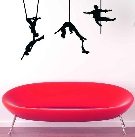 Trapeze Cirque du Soleil Circus Decal by VinylWallAdornments