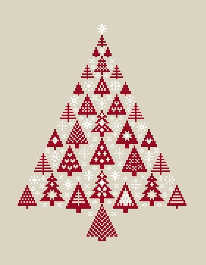 Die besten 17 ideen zu weihnachten kreuzstich auf for Sticken vorlagen kostenlos