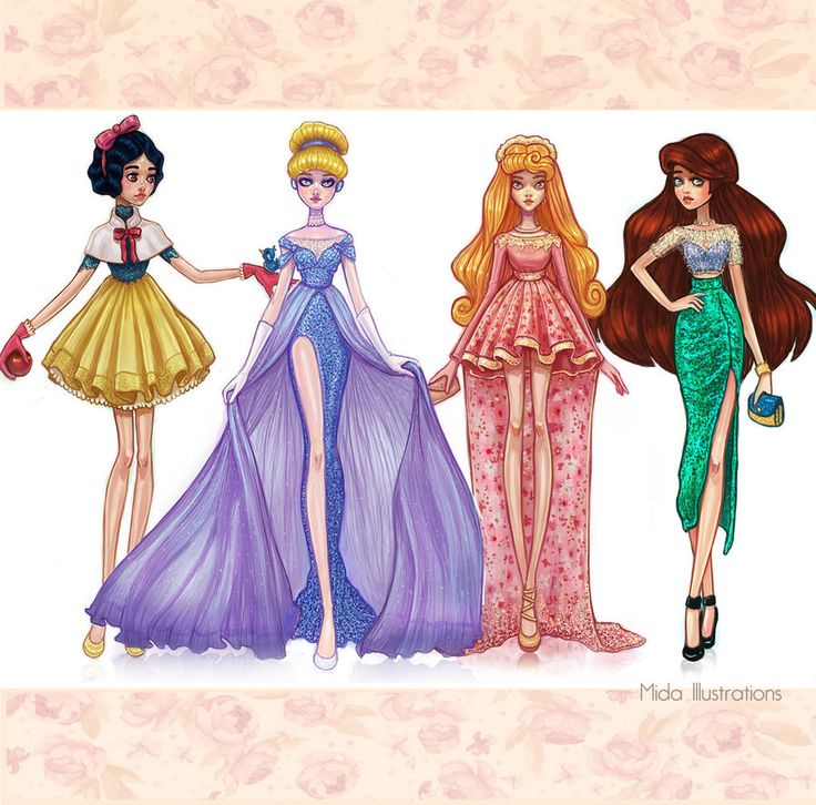 Disney+Princesses+Dreams+Collection+Part+1+by+MidaIllustrations.deviantart.com+on+@DeviantArt