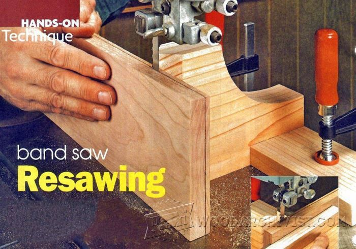 Band Saw Resawing - Band Saw Tips, Jigs and Fixtures | WoodArchivist.com