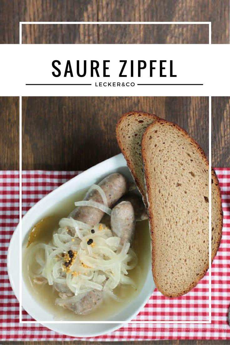 Saure Zipfel | Fränkische Bratwürste mit Zwiebeln im Essigsud