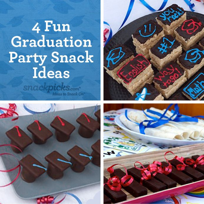 4 Fun Graduation Party Snack Ideas Love The Caps Great Idea For