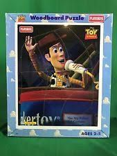 Woody from Toy Story disney playskool wood frame tray puzzle