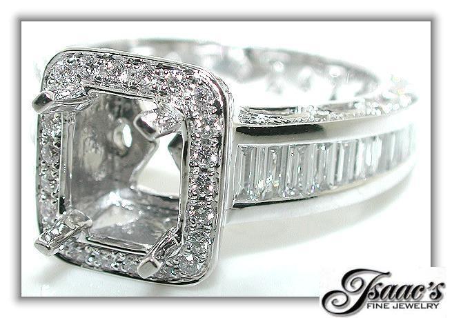 $2500.00 Ebay 2.50 CT Rectangular  HALO DIAMOND Mounting RING Setting