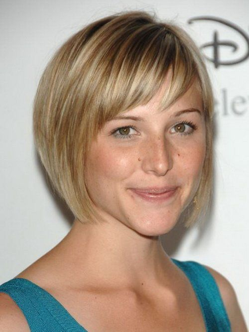 ... short hairstyles for round faces double chin, short hairstyles for