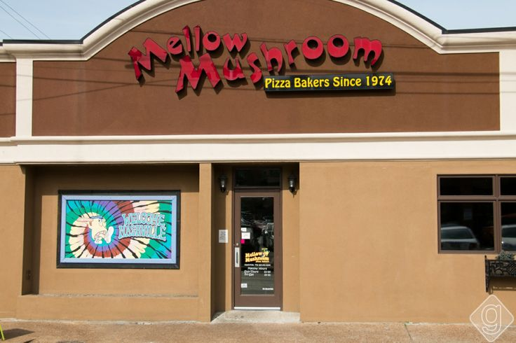 """""""The Cadillac of Pizza"""" comes from the delicious Mellow Mushroom. Located in Midtown, this pizza place is so good! They serve one of the best pizzas in Nashville."""