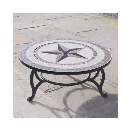 Fire Pit BBQ Mosaic Coffee Table Round Garden Patio Heater Fire Bowl  Tabletop