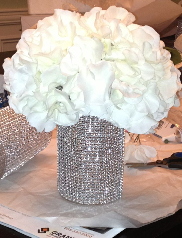 simple bling wedding centerpieces ideas