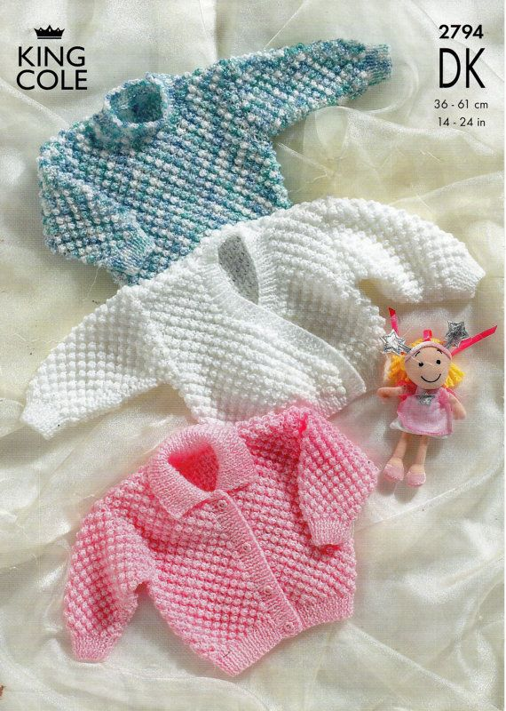 baby bobble stitch cardigans & sweater knitting por Minihobo