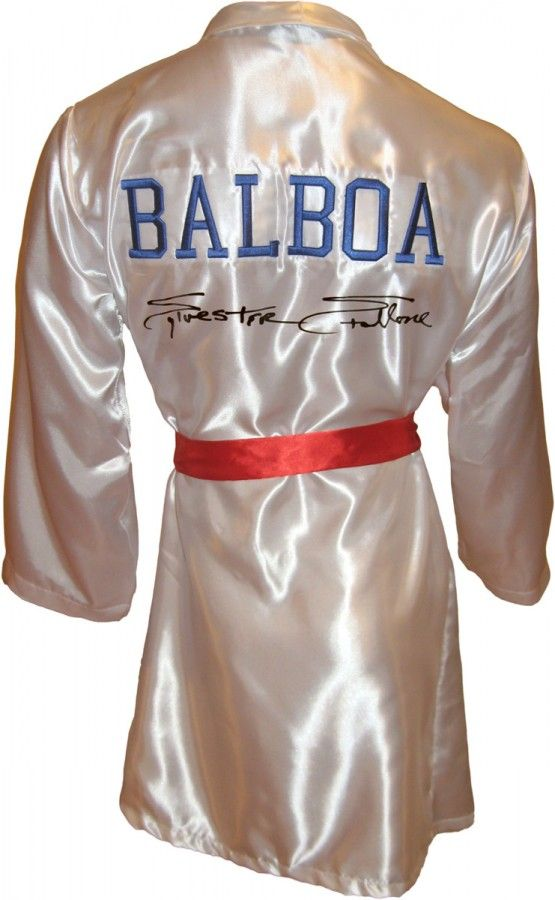 e1d6fb0cc1 Sylvester Stallone Signed ROCKY IV Boxing Robe