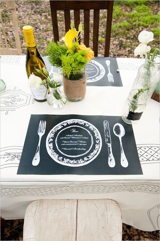 Rustic Table Decor Ideas Wedding Placemats Rustic Table Decor Wedding Menu