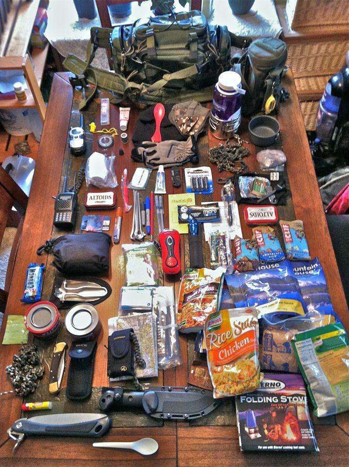 Kit de supervivencia de 72 horas.