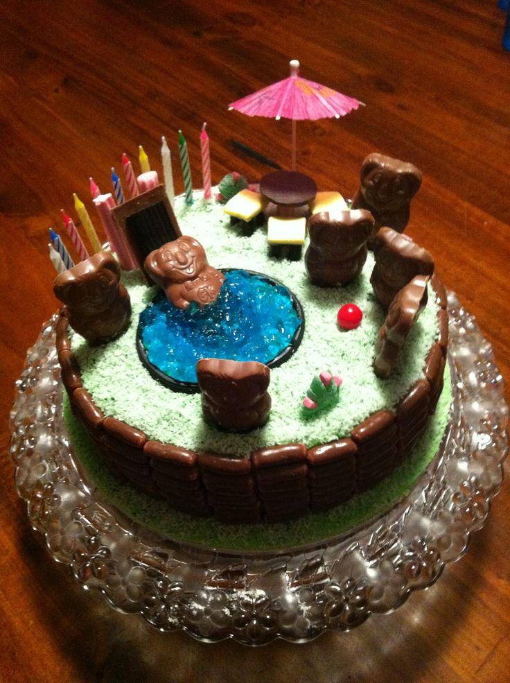 Caramello koala cake #caramellokoalacake #teddybearspicniccake