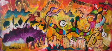 Eden conquered, mixed media on wood, 39x70cm, 2003, by Paolo Albanese.