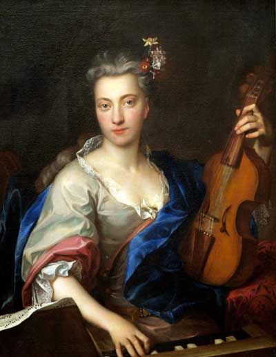 "Jan Kupecký ""Young woman playing the viola d'amore"" http://en.wikipedia.org/wiki/Jan_Kupeck%C3%BD"