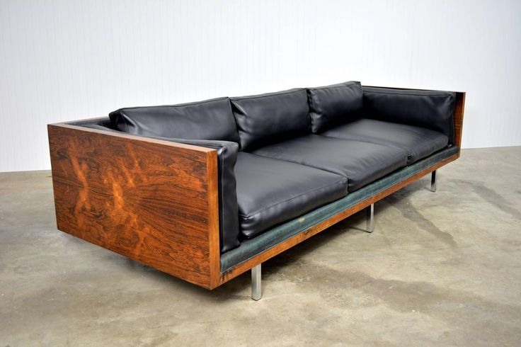 Milo Baughman Rosewood Case Sofa For Sale at 1stdibs