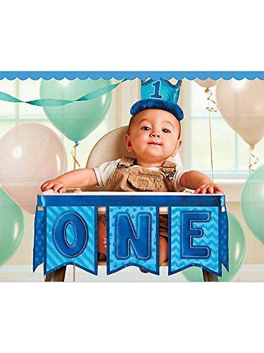 1st Birthday Boy High Chair Decorating Kit