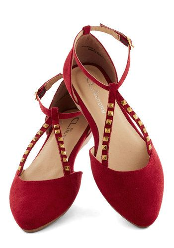 Red muti strap flat shoes- Good 1920s shoe choice! http://www.vintagedancer.com/1920s/buy-1920s-shoes-for-women/